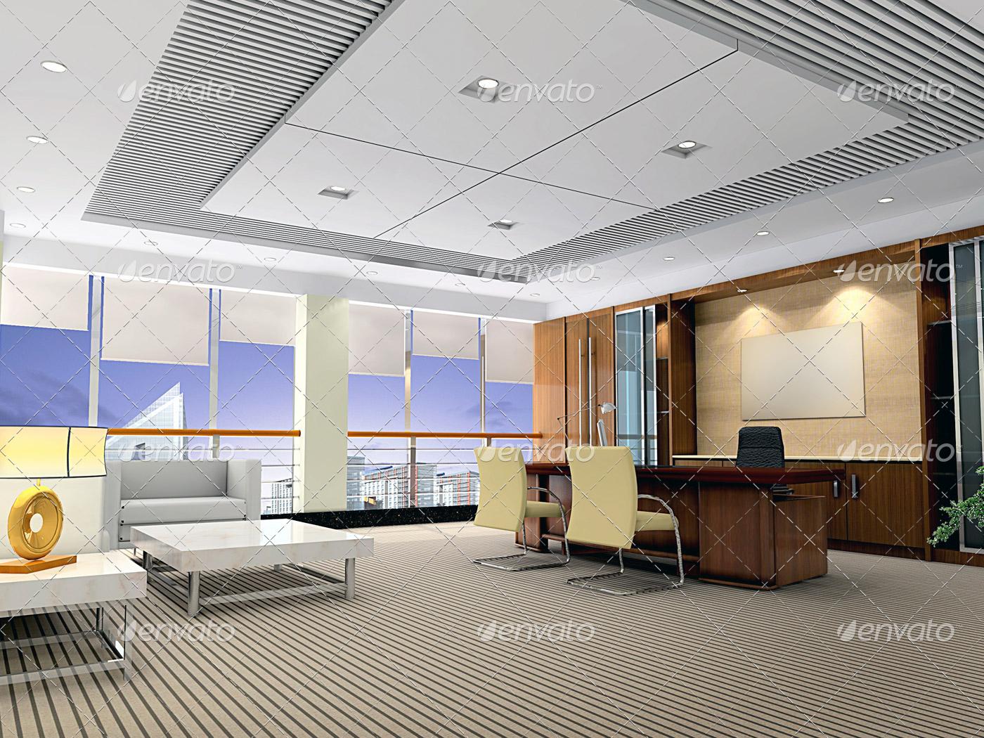 photodune 4015649 3d modern office room m intertherm